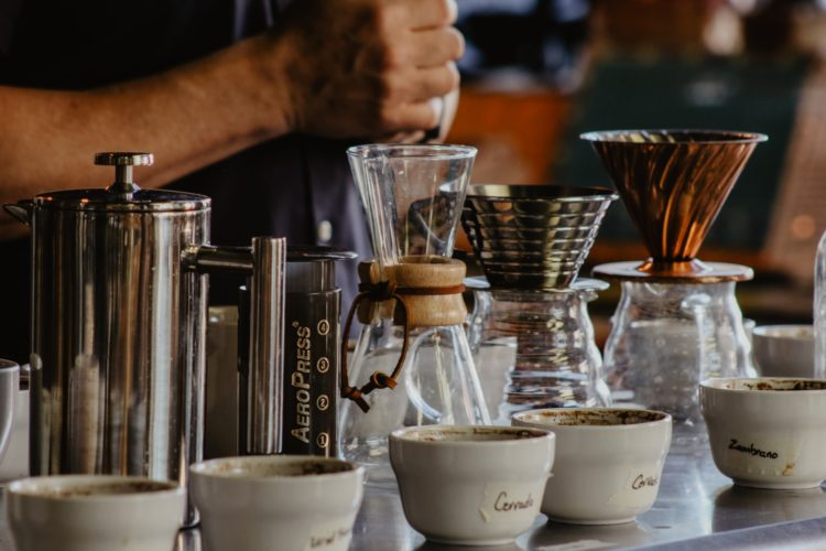 cupping craft coffee